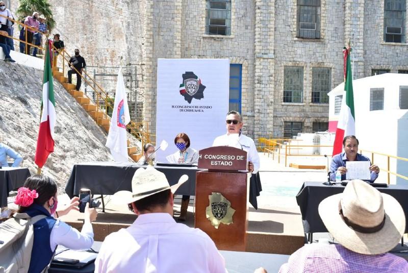 Congreso de Chihuahua sesiona en presa La Boquilla. Noticias en tiempo real