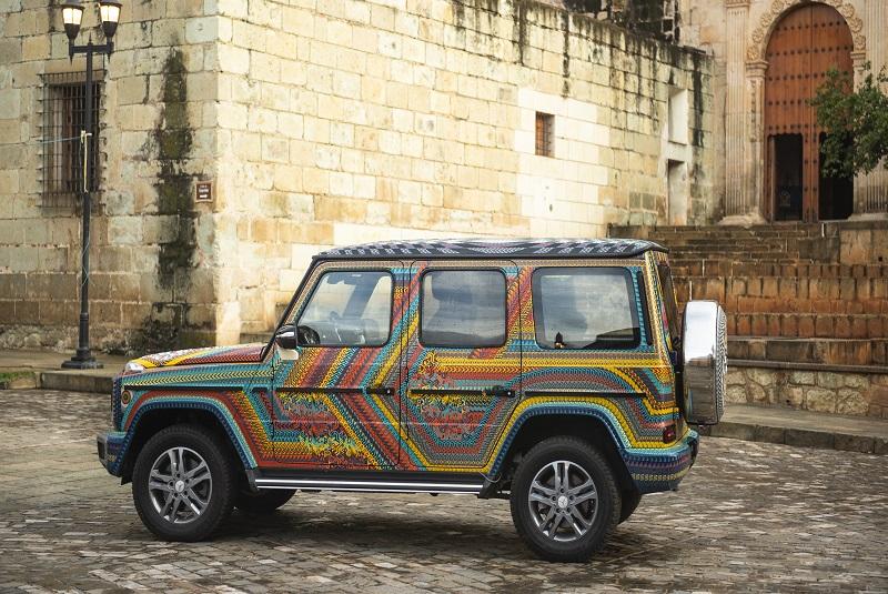 Artesanos oaxaqueños decoran nueva camioneta de Mercedes-Benz (+fotos). Noticias en tiempo real
