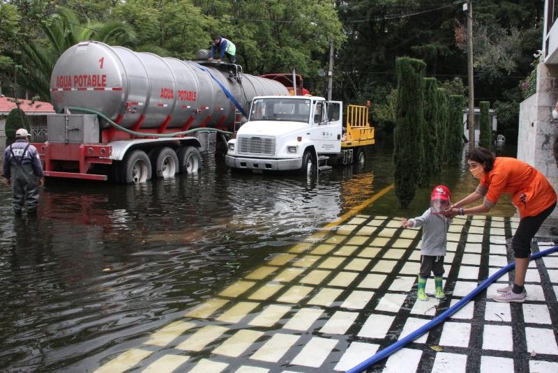 Ante inusuales lluvias, SSC refuerza labores de apoyo. Noticias en tiempo real