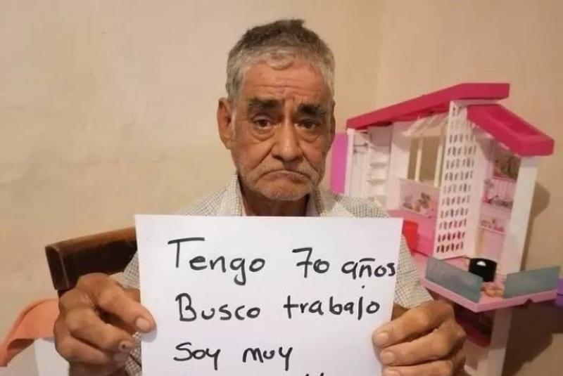 Don Guille pide trabajo para poder cobrar una pensión. Noticias en tiempo real