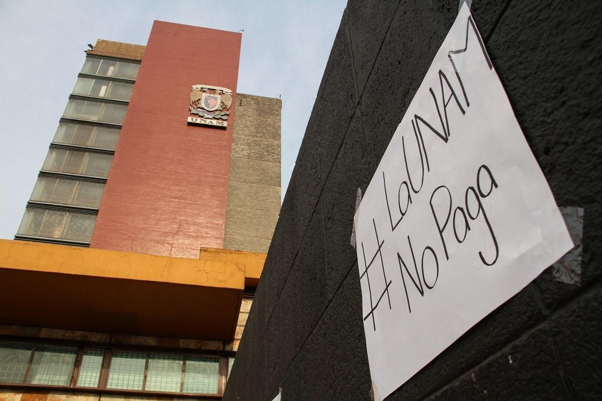 UNAM se compromete a saldar pagos a profesores a finales de abril