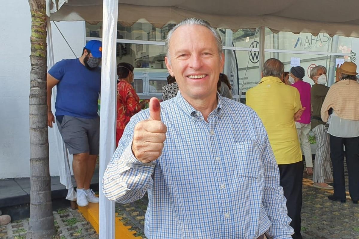 Presidente de la Coparmex votó en Jalisco esta mañana