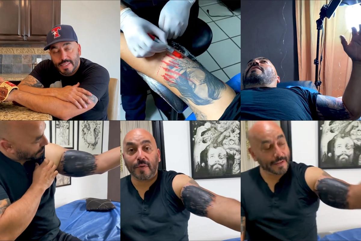 ¡Se lo quitó! Lupillo Rivera no deja rastro del tatuaje que se hizo de Belinda