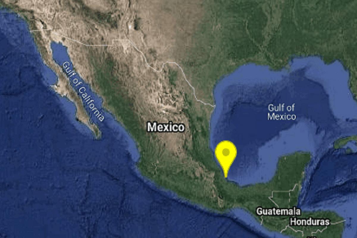 Se registra sismo de 4.9 grados de magnitud en Veracruz