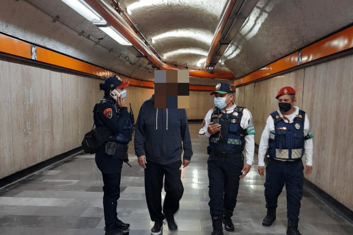 Metro evita intento de suicidio