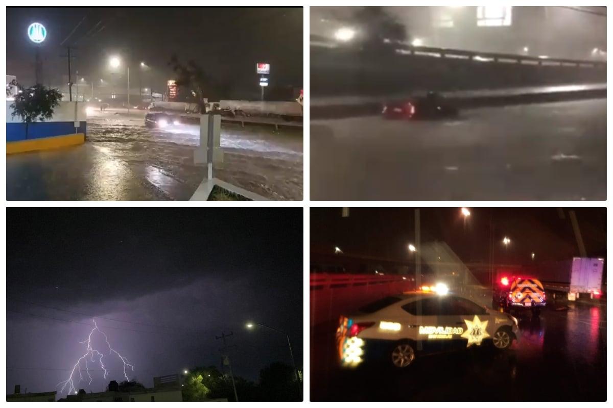 Reportan «diluvio» en Escobedo y Apodaca, Nuevo León (FOTOS + VIDEOS). Noticias en tiempo real